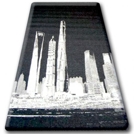 DYWAN SZNURKOWY SIZAL FLOORLUX 20240 czarny / srebrny 140x200 cm