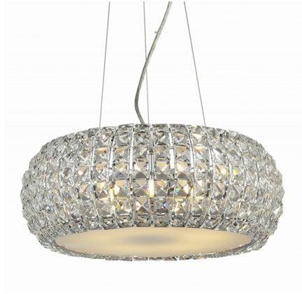 ŻARÓWKI LED GRATIS! Lampa wisząca Sophia 3 AZ0520 AZzardo kryształowa oprawa w kolorze chromu