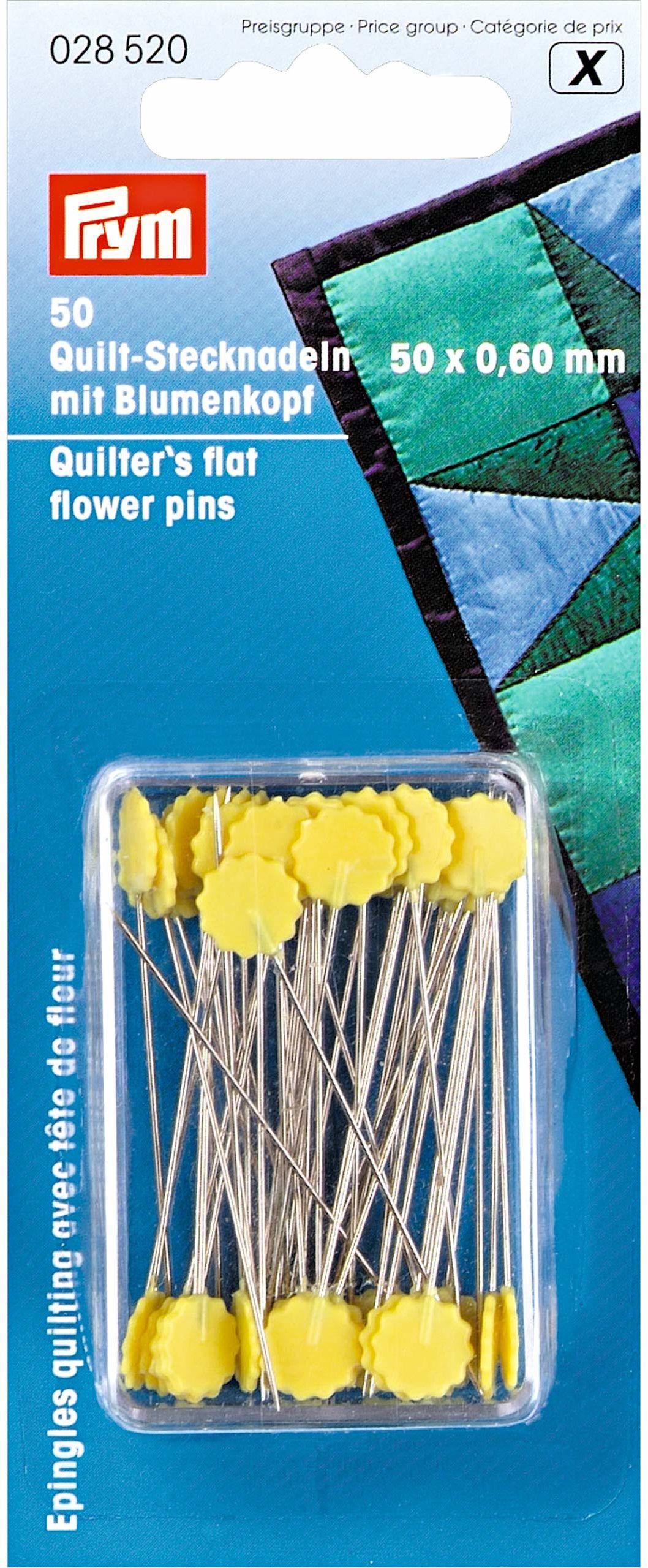 Prym 0,60 x 50 mm kołdry płaskie szpilki do kwiatów, srebrne/żółte
