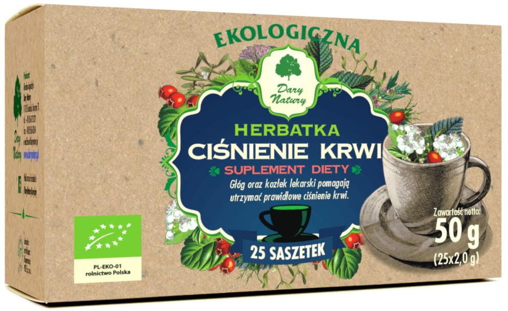 Herbatka ciśnienie krwi bio 25 x 2 g - dary natury