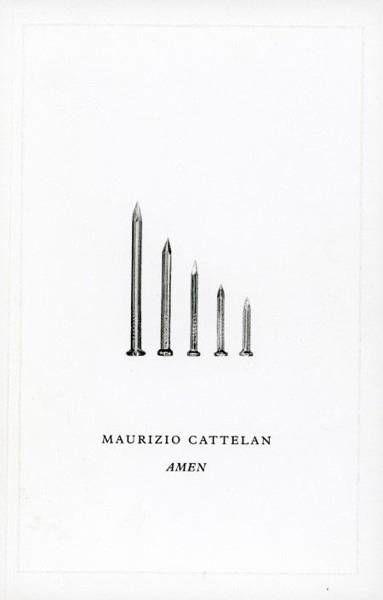 Maurizio Cattelan. Amen - praca zbiorowa