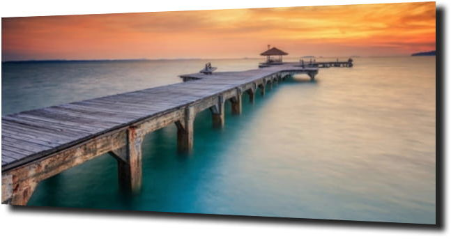 obraz na szkle Drewniany most na oceanie 120X60