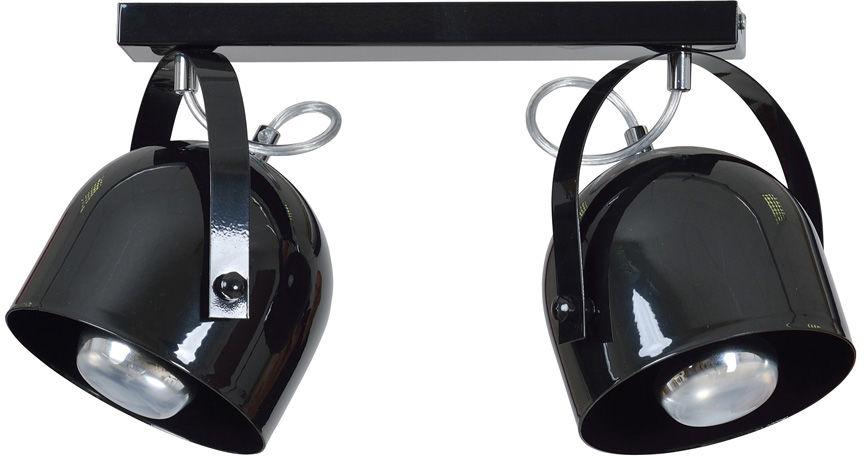 Emibig DOBSON 2 SPOT BLACK 773/2 plafon lampa sufitowa nowoczesna czarna ruchome klosze 2x60W E27 40cm
