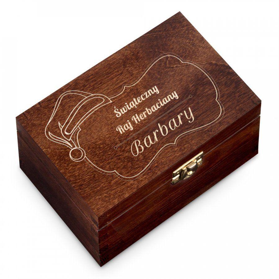 Herbata w Grawerowanej Skrzynce Na Święta Raj Herbaciany