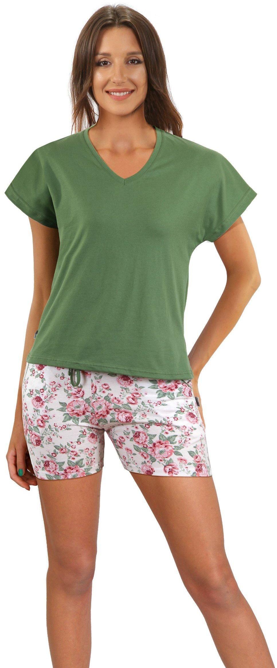 piżama damska 2508/11 100% Bawełna z kieszeniami Sesto Senso