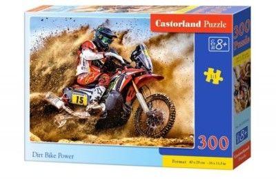 Puzzle Castorland 300 - Rajd motocyklowy, Dirt Bike Power