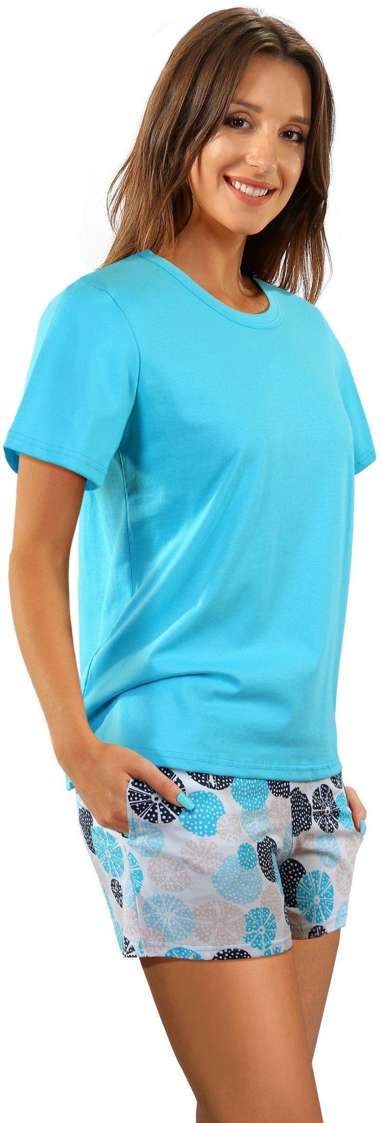 piżama damska 2498/09 100% Bawełna z kieszeniami Sesto Senso