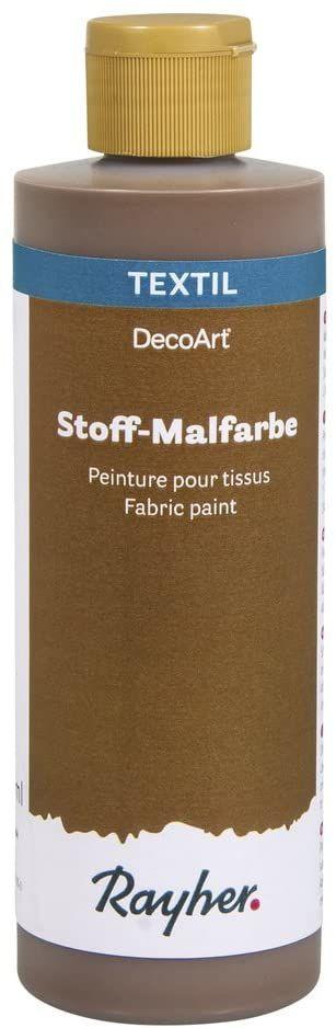 Rayher Farba do malowania tkanin, butelka 236 ml, mokka, różne materiały, 5,1 x 5,1 x 16,5 cm