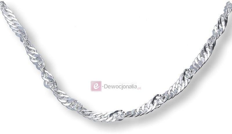 Łańcuszek srebrny singapur pr. 925 Ø50 - 5,7g