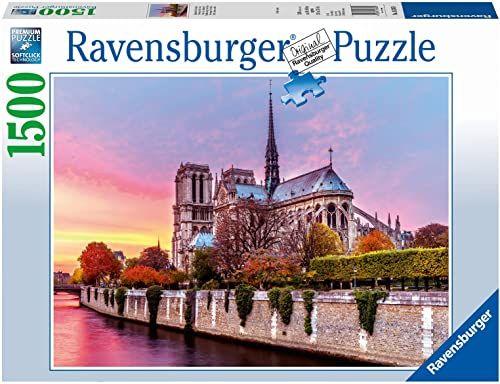 Ravensburger Puzzle 16345 Katedra Notre Dame 1500 Elementów Puzzle Dla Dorosłych (16345) Unikalne Elementy, Technologia Softclick - Klocki Pasują Idealnie