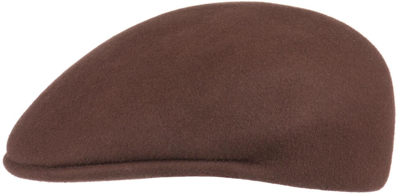 Płaski Kaszkiet z Filcu by Lipodo, brązowy, cm