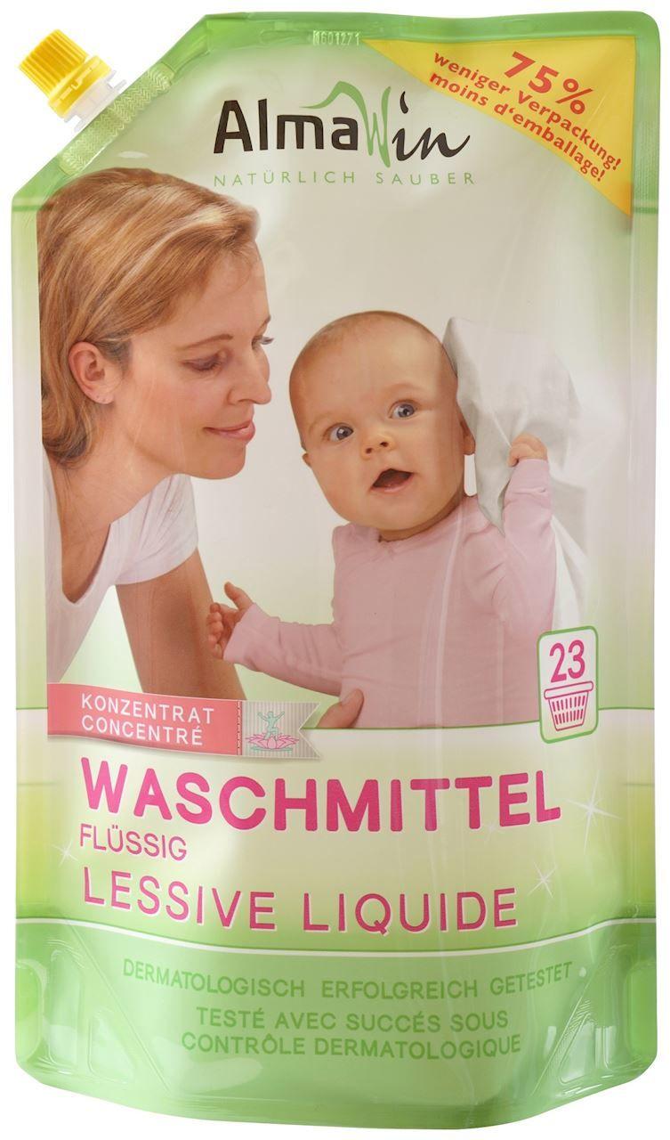 Płyn do prania dziecięcych ubrań uzupełnienie eco 1,5 l - almawin