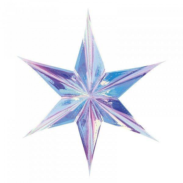 Gwiazda foliowa 40cm opalizująca 1szt GWF1-40-017