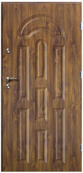 Drzwi zewnętrzne O.K.Doors Azzuro 80 prawe złoty dąb