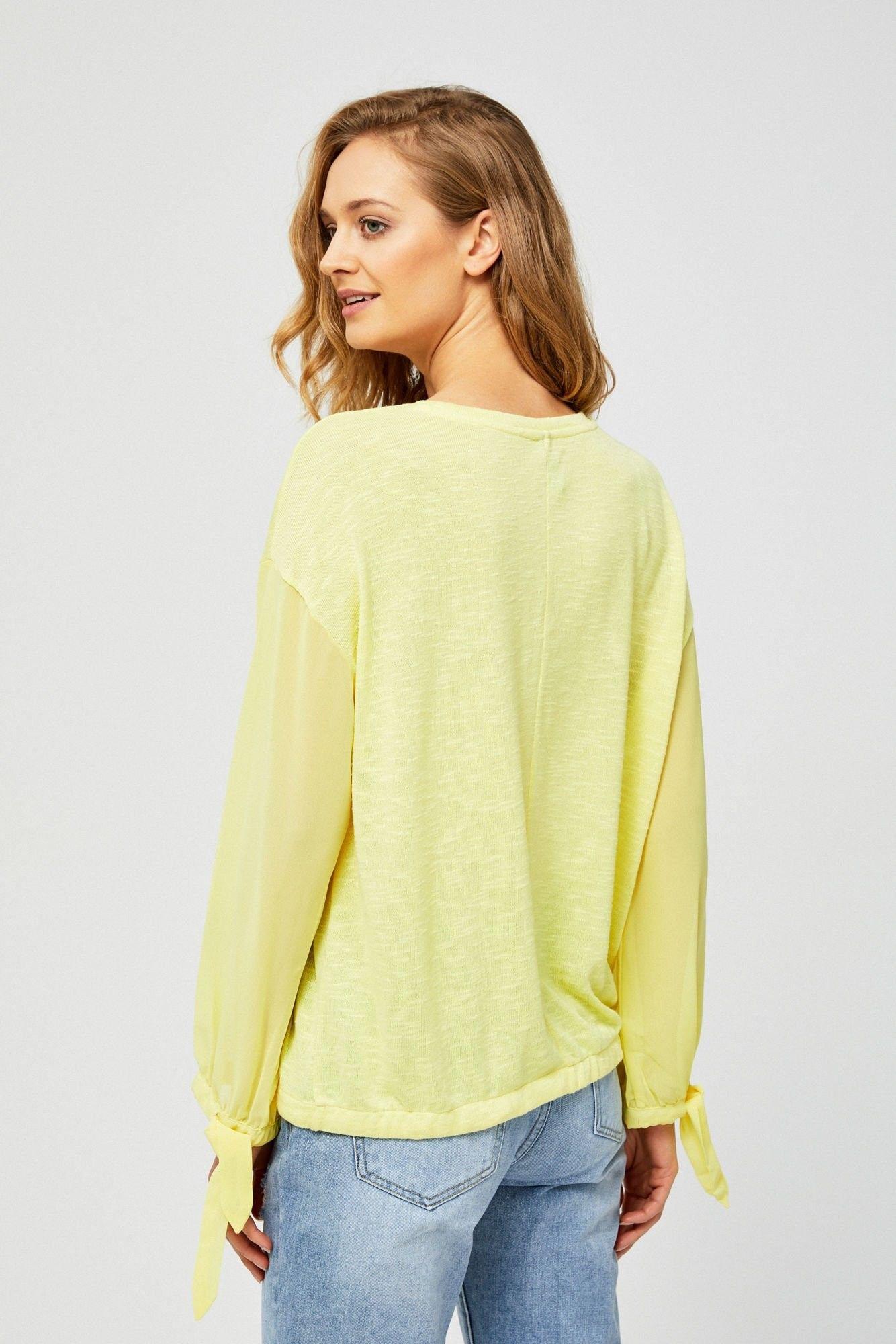 Bluza z transparentnymi rękawami