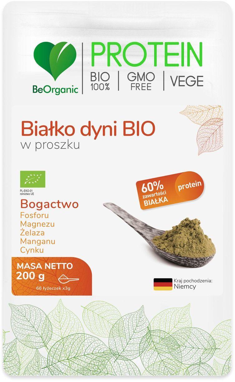 Białko Dyni Bio 60% Protein Proszek 200 g BeOrganic