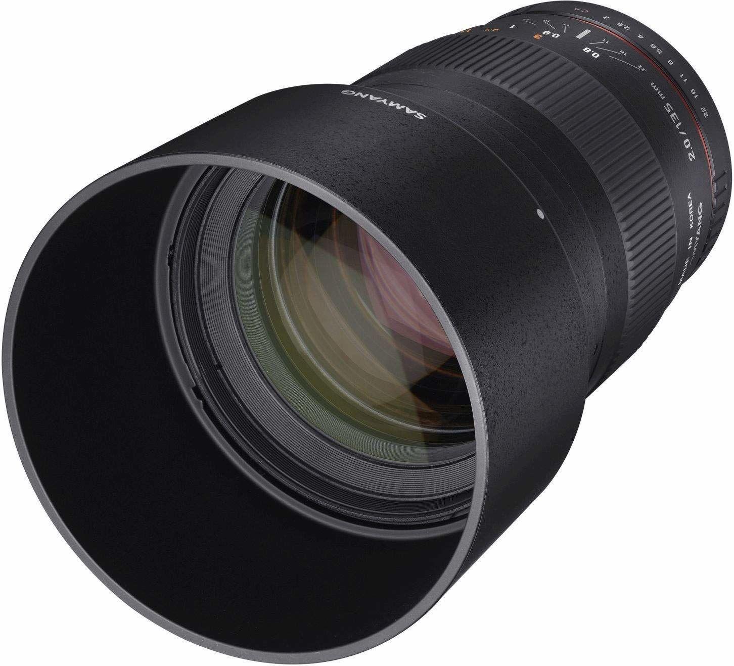 Samyang obiektyw 135 mm, F2.0, Mikro Cztery Trzecie, czarny