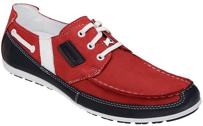 Mokasyny KACPER 1-0796-136+489+560 Czerwone Sailor - Czerwony