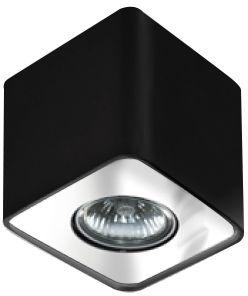 Plafon Nino 1 AZ0736 AZzardo geometryczna oprawa w kolorze czarnym