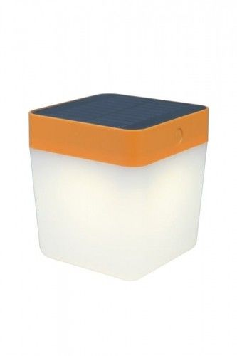 Table Cube lampka stołowa ogrodowa solarna pomarańczowa 6908001340