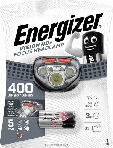Latarka czołowa Energizer Vision HD+ Focus, 400 lm