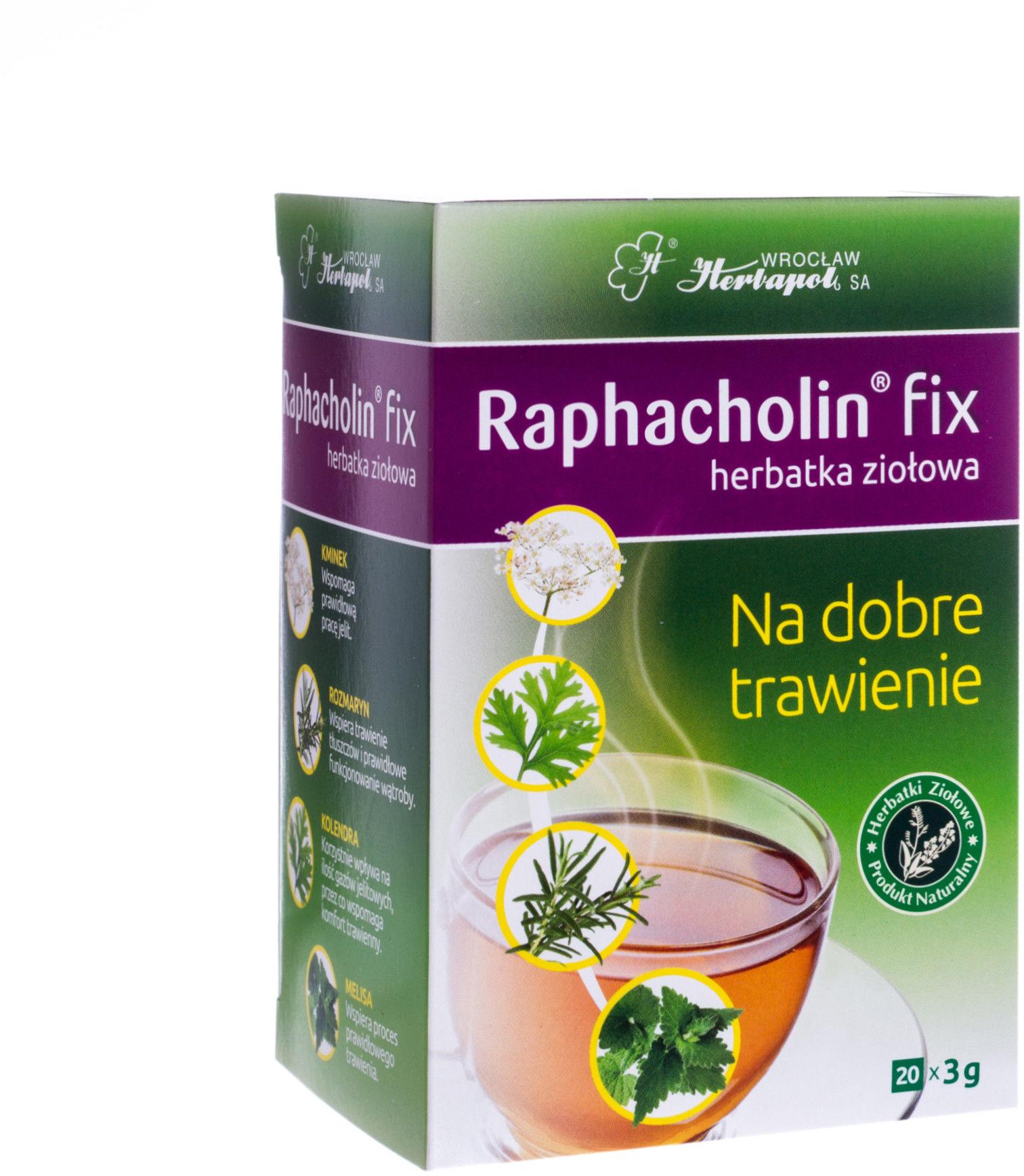 Raphacholin fix herbatka ziołowa 20 saszetek