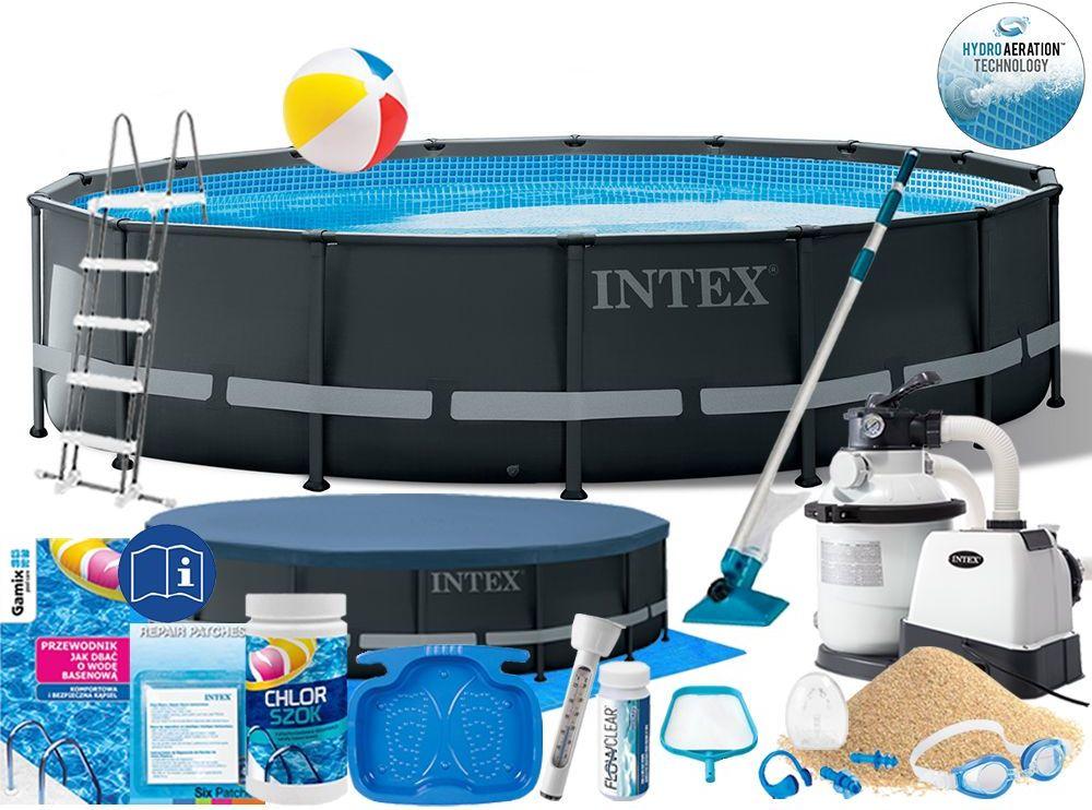 Basen Intex 488x122 Ogrodowy Stelażowy 26326 19w1