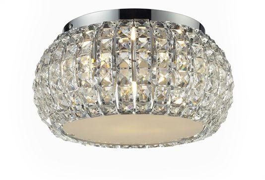 ŻARÓWKI LED GRATIS! Plafon Sophia 3 top AZ0519 AZzardo kryształowa oprawa w kolorze chromu