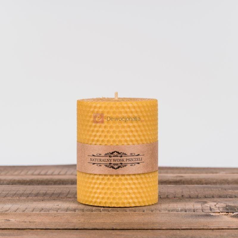 Świeca z węzy pszczelej - 10 cm