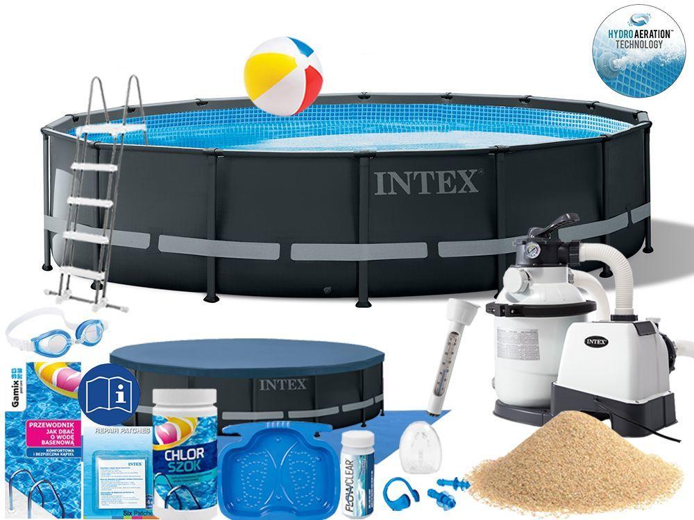 Basen Intex 488x122 Ogrodowy Stelażowy 26326 18w1