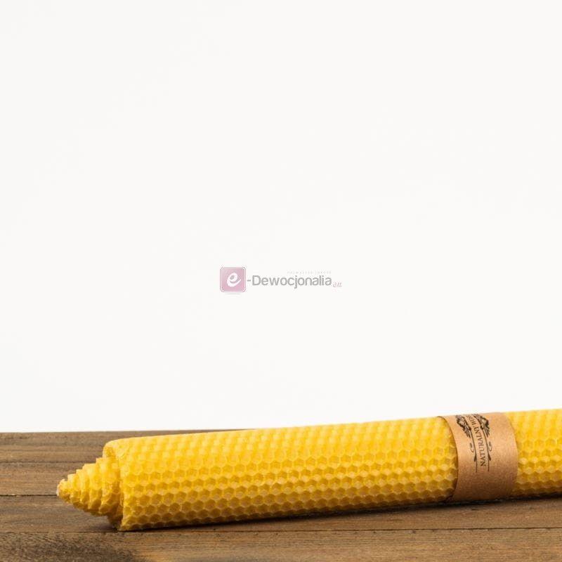 Świeca z węzy pszczelej gromnica - 41cm