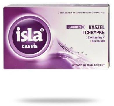 Isla Cassis łagodzi kaszel i chrypkę 60 pastylek do ssania