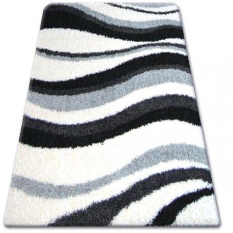 DYWAN SHAGGY ZENA 2490 biały / szary 100x200 cm