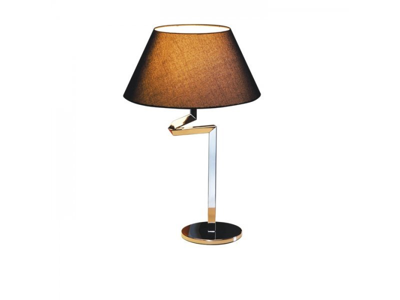 LM B 2040 BLACK LAMPA STOŁOWA NOCNA REGULOWANE RAMIĘ CHROM ABAŻUR CZARNY E27 1x60W LED