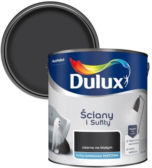 Farba Dulux Ściany i Sufity czarno na białym 2,5 l
