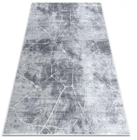 Dywan MEFE nowoczesny 2783 Marmur - Strukturalny, dwa poziomy runa szary 80x150 cm