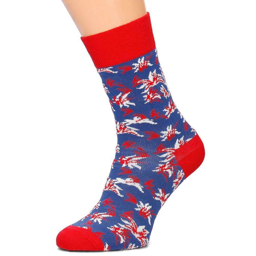 Happy Socks - Skarpety Damskie - ALO01-4000 - Niebieski