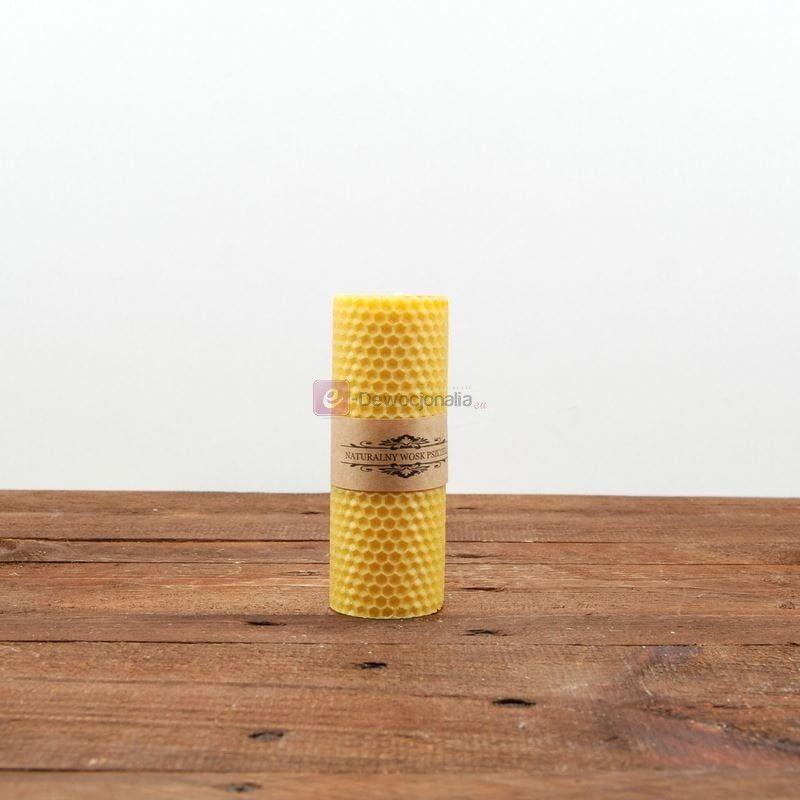 Świeca z węzy pszczelej walec - 10cm