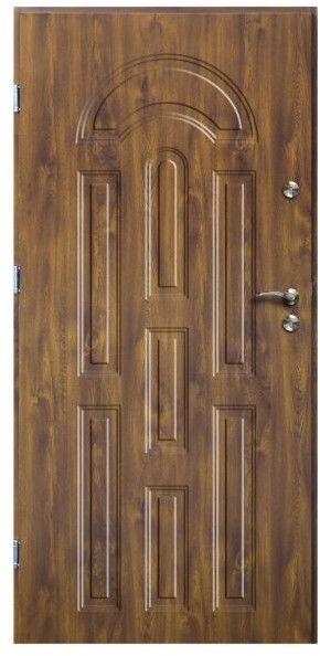 Drzwi zewnętrzne O.K.Doors Azzuro 80 lewe złoty dąb