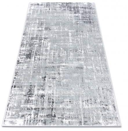 Dywan MEFE nowoczesny 8722 Linie vintage przecierany - Strukturalny, dwa poziomy runa szary / biały 80x150 cm