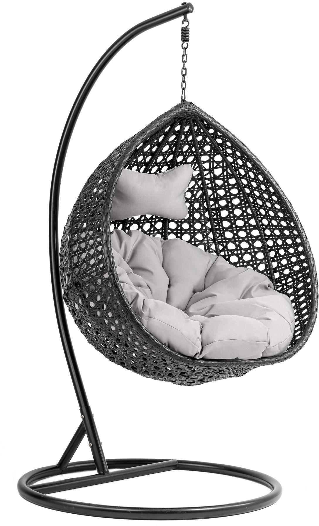 Kokon Pera I huśtawka, wiszący fotel - Czarny/Szary