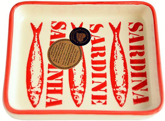 Półmisek ceramiczny Czerwony Napis 16cm - kolekcja SARDINHAS TEXTO