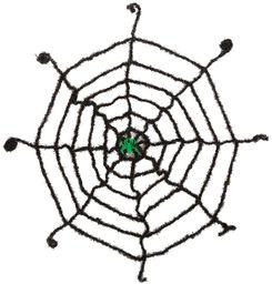Bristol nowość HI306 sieć z świecącymi pająkami, czarny/zielony, jeden rozmiar