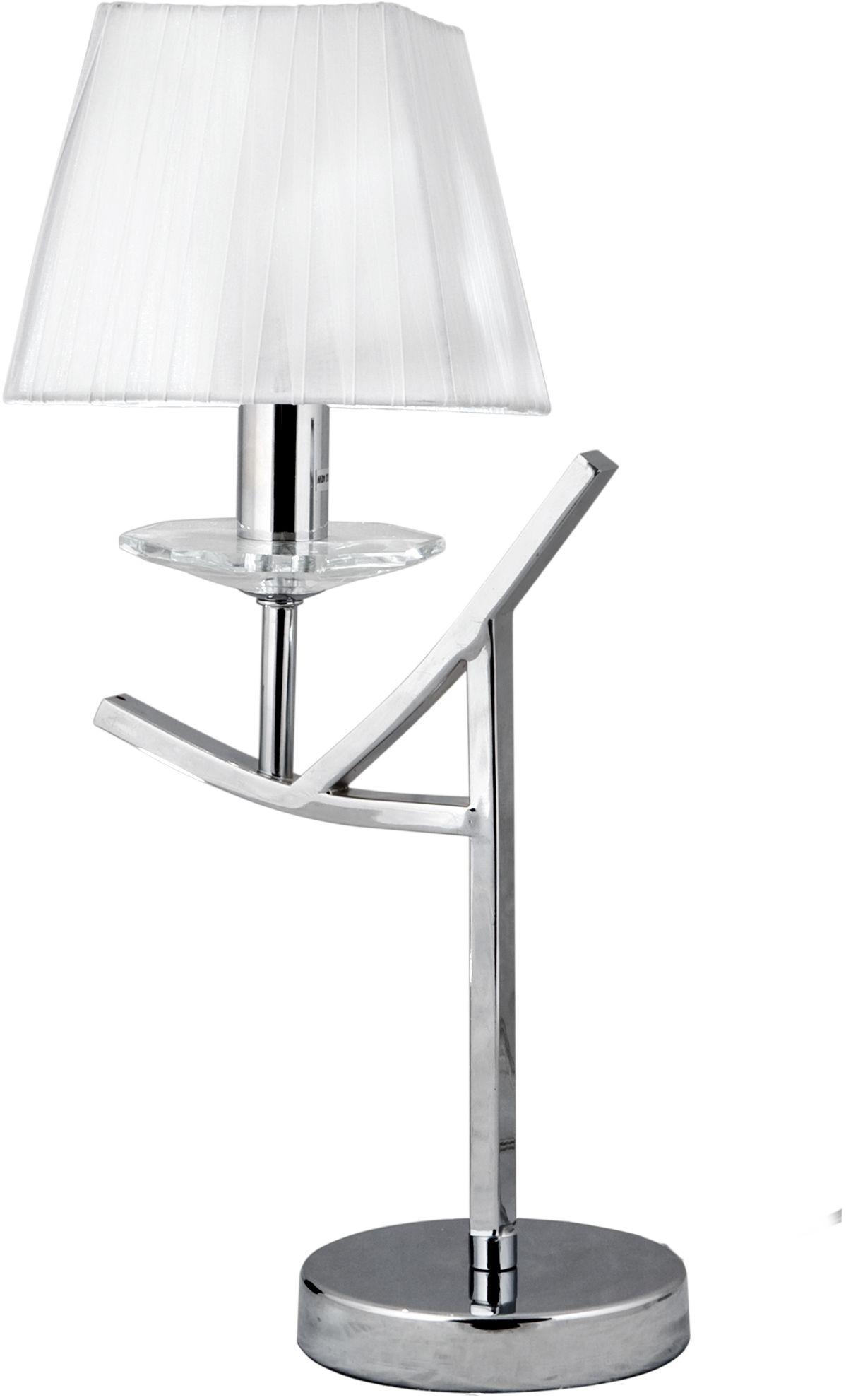 Candellux VALENCIA 41-84609 lampa stołowa chrom abażur 1X40W E14 28cm