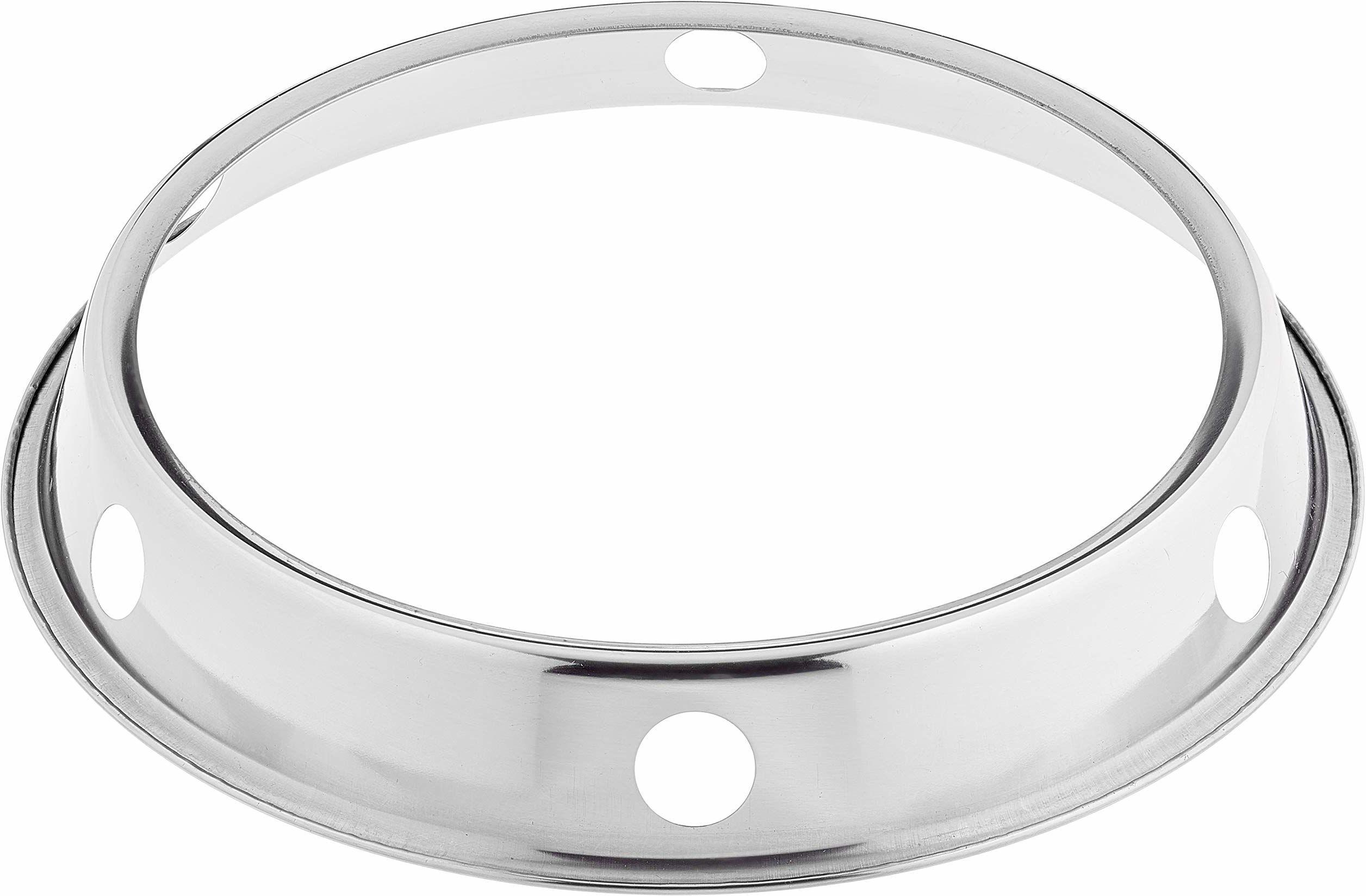 JADE TEMPLE 17065 żelazny uchwyt pierścieniowy do woka, żelazo, srebrny 5 x 25,5 x 25,5 cm