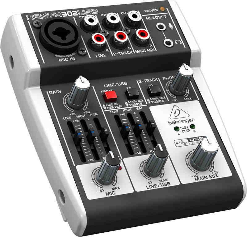 Behringer XENYX 302USB - mikser audio z USB