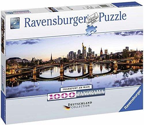 Puzzle Ravensburger 1000 - Panorama Frankfurtu, Panorama of Frankfurt