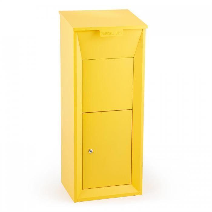 Waldbeck Postbutler Stojąca skrzynka pocztowa kolor żółty
