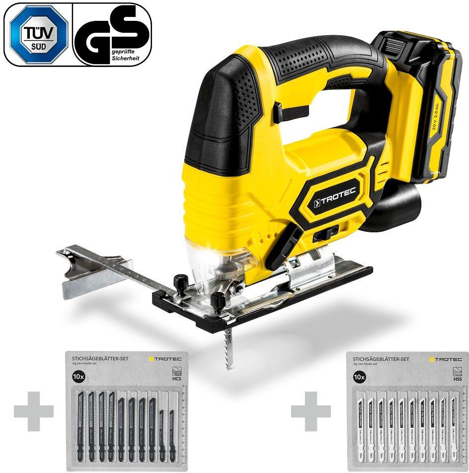 Wyrzynarka akumulatorowa PJSS 11-20V + Zestaw brzeszczotów do drewna + Zestaw brzeszczotów do metalu