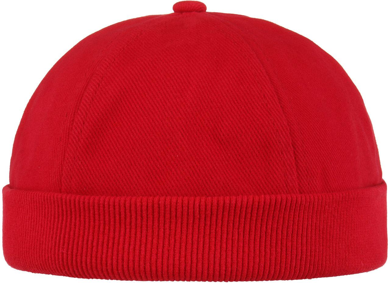 Czapka Dokerka Bawełniana, czerwony, One Size